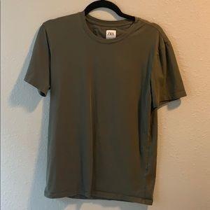 Zara green tshirt